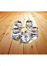 Sun's Tea Solid Crystal Glass Teapot Warmer - Candle Never Flames Out