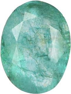 Real Gems Piedra Preciosa de Esmeralda Natural de 14 mm, Esmeralda brasileña de Forma Ovalada, Piedra de Esmeralda Suelta ...