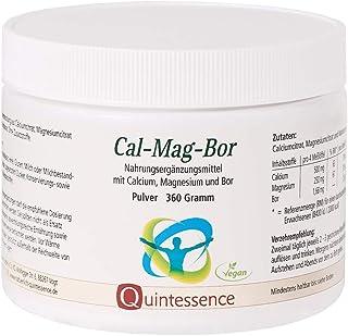 Cal-Mag-Bor, 360 g pulver, Quintessence | utan tillsatser | vegan | ren pulverblandning av kalciumcitrat, magnesiumcitrat ...