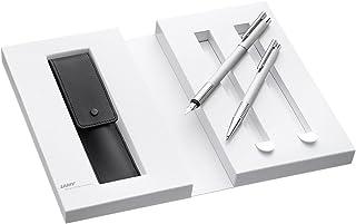 Lamy 凌美 1230491 钢笔套装 带圆珠笔 皮革笔套和礼品包装 M 006/206 银色