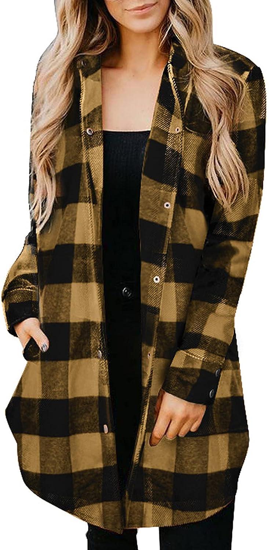 Women Lightweight Cardigan Long Kimono Jacket Outerwear Vintage Plaid Splicing Boyfriend Long Sleeve Streetwear Coat