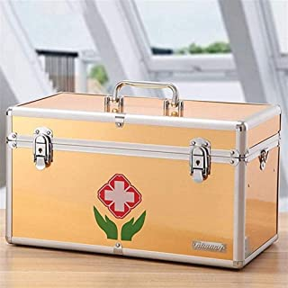THMSS Medicine Box Home Medical Box Multi-layer Full Medical Box Large Box Tour Medical Box (Color : Beige, Size : 35.5x2.x22cm)