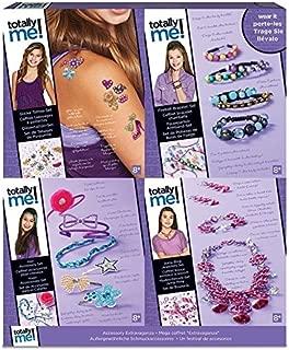 Style Me Up - Girls Jewelry Making Kit - 4 in 1 DIY Accessories Set Kids - Girls Craft Kit Tattoos Shamballa Bracelets & Hair Accessories