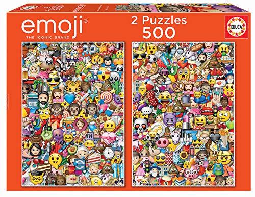 Educa Borras - Serie Emoji, 2 puzzle da 500 pezzi (17992)