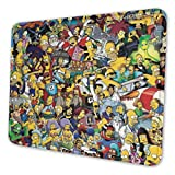 Simpsons Mouse Mat/Pad - Gaming Custom Professional Mousepad, Stitched Edges, Ideal for Desk Cover, Computer Keyboard, PC and Laptop