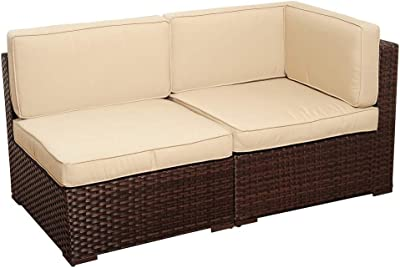 Amazon Com Giantex 4pc Patio Sectional Furniture Pe