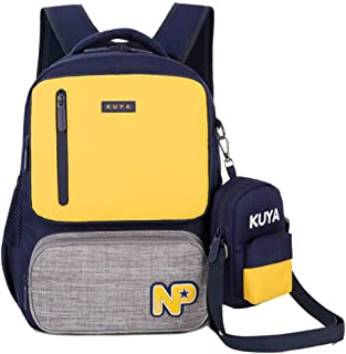 Waterproof School Backpack Unisex College School Bookbag Canvas Casual Fashion Cute Backpack Casual Travel Daypack Multi-Compartment School Backpack Grades 1-3