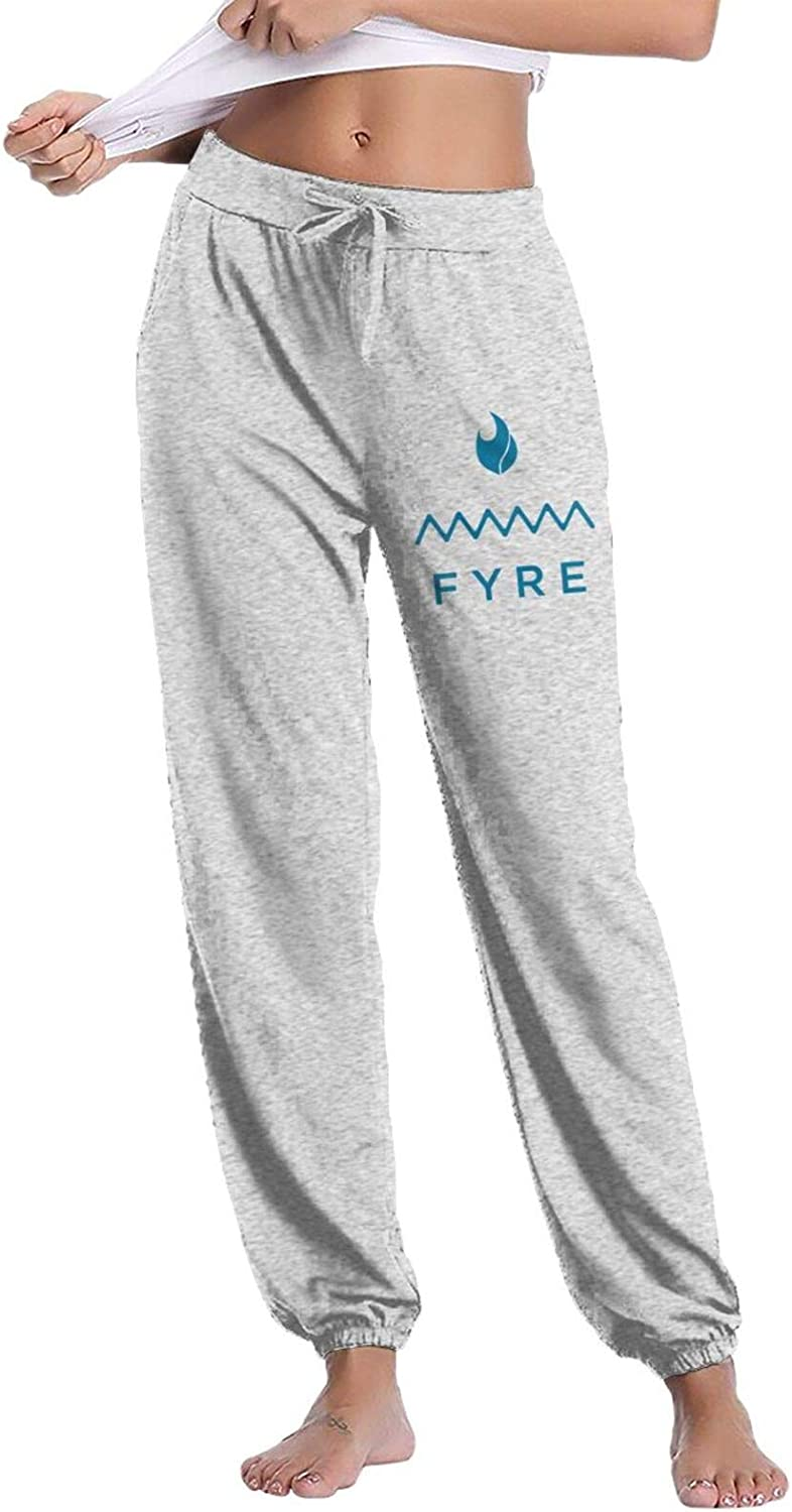 RONGS Fyre Festival Women's Casual Pants Lounge Long Sweatpants Basic Drawstring Trousers with Pockets