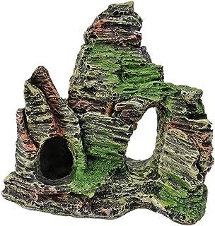 POPETPOP Ozdoby Do Akwarium Akwarium Widokiem Góry Rock Ornament Żywica Rock Wystrój Jaskini Do Dekoracji Akwarium