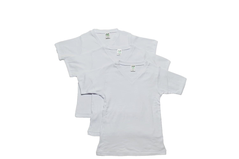 Jack & Jill Underwear, Boys 3 Pack V-neck T-shirt (3)