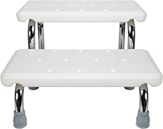 Safety Bath Steps - 2 Stairs - Steel Frame Non-Slip Rubber Feet