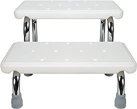Safety Bath Steps - 2 Stairs - Steel Frame Non-Slip Rubber Feet