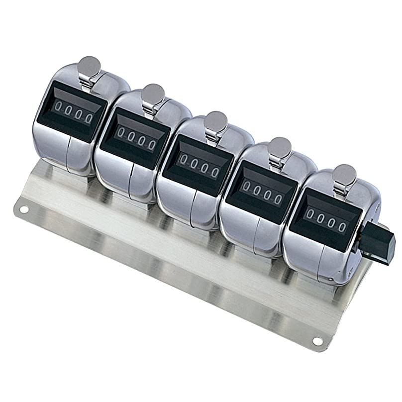おかしいガチョウハングプラス 数取器 取付用5連用(4桁) 【質量420g】 30-929 KT-500