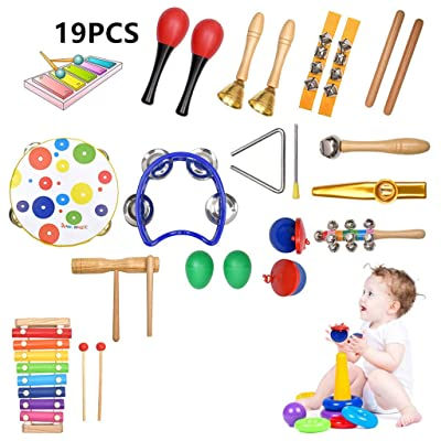Musical Instruments Toys Set for Kids,19 PCS Wo...