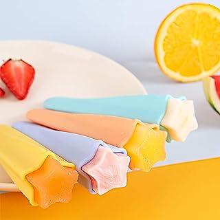 Hbsite 4Pcs Moulle à Glace Silicone, DIY Popsicle Mold, Moulle Glace à l'eau Réutilisable, Qualité alimentaire, sans BPA, ...