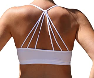 Anemone Women's Sexy Strappy Cut-Out Padded Bustier Bralette Bra One Size
