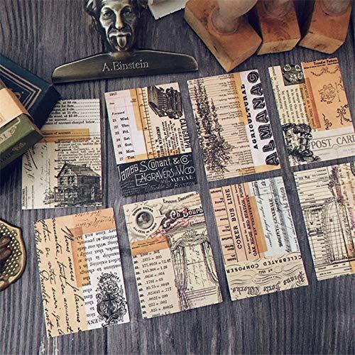 40 Blatt Vintage Kaffeetasse Retro Time Material Dekor Kleber DIY Scrapbooking Aufkleber Briefpapier Tagebuch Planer Bullet Journal