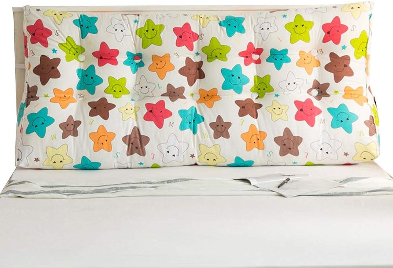 KKCF Headboard Cushion Triangle Comfortable Detachable Wear Resistant Home Canvas, 5 colors, 7 Sizes (color   D, Size   Length 90cm)