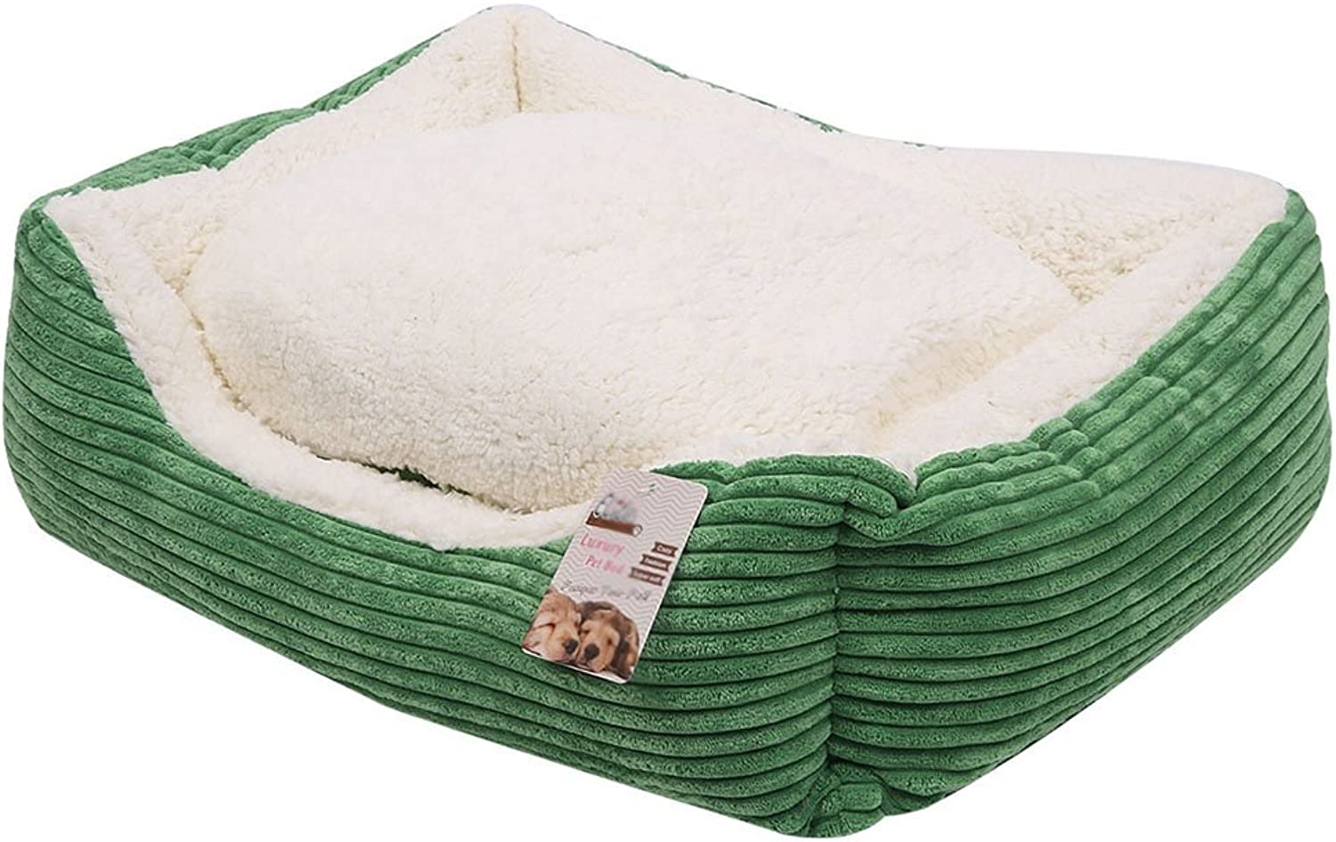 Dogs Bed House Pet Bed Sleeping Bag Cushioncat for Cats and Small Medium Large Dogs Best Pet Supplies GreenS M L (Size   S)