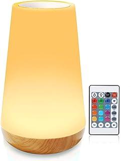 Lámpara escritorio led luz nocturna infantil Smart Touch Lamp lamparas tactiles a pilas lampara inteligente colores (l...