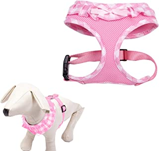 EXPAWLORER Checkered Frills Fashion Puppy Harness for Pets Dog & Cat