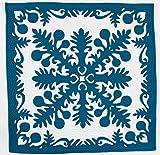(ラナイブルー) ハワイアンキルト タペストリー 手縫い ふわふわ
