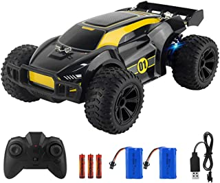 ADDSMILE Remote Control Car, 2.4GHz RC Car Gift for Kids, High-Speed Hobby Toy Car with Colorful LED Light, Model Electric...