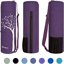 Deco Athletic Yoga Mat Bag, Choose Your Color, fits up to 25 inch mat, one Large Zipped Interior Pocket, one Large mesh Exterior Pocket, Room for Yoga Blanket and Yoga Towel