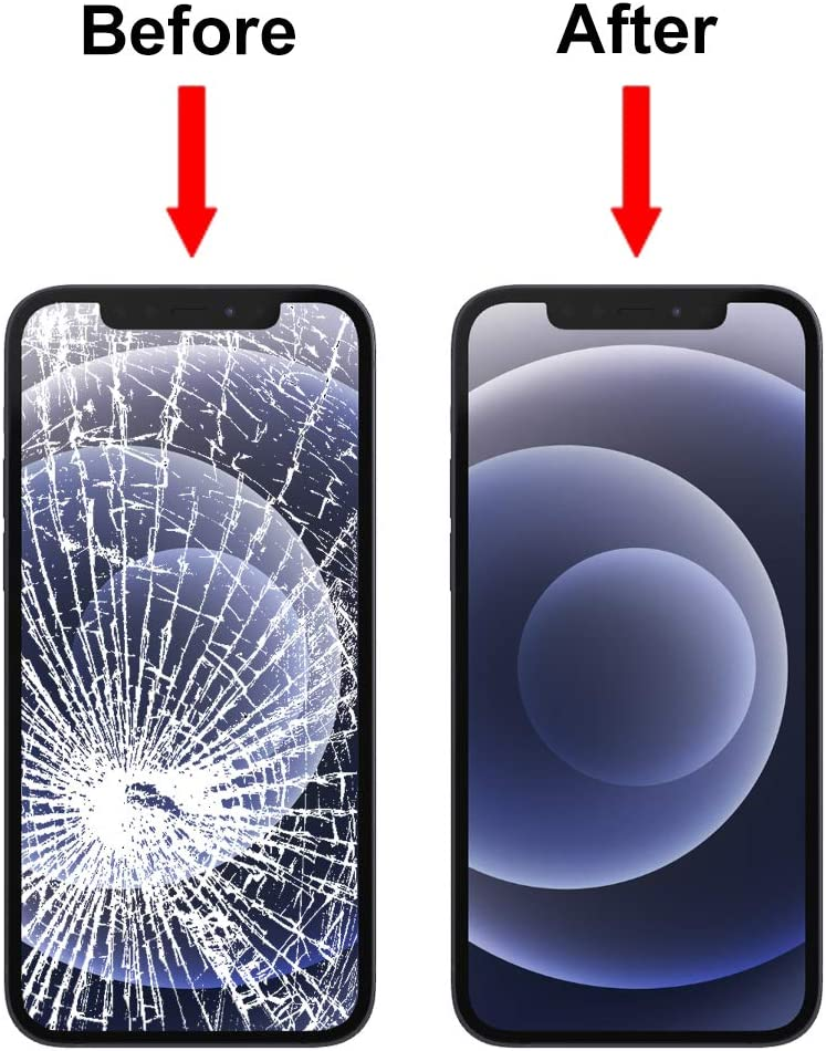 MMOBIEL Front Glass Replacement Compatible with iPhone 8 Plus (Space Grey/Black) incl. Tool Kit