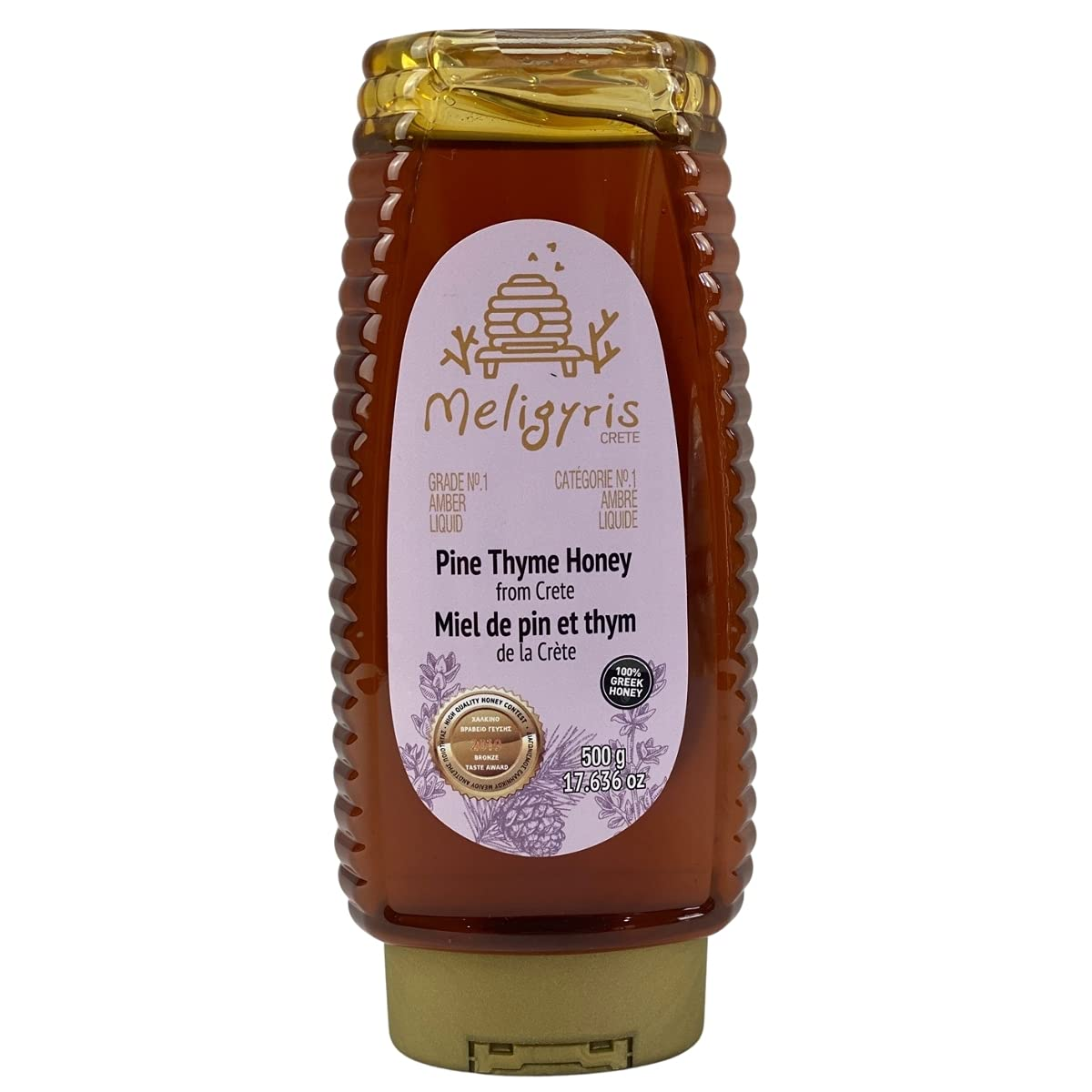 Meligyris Pure Pine Thyme High quality new Honey from 100% Raw Fashion Crete - and