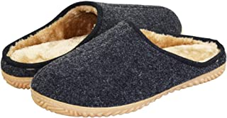 VLLY Mens Comfortable Memory Foam Slipper Cozy Slip On Rubber Sole House Shoes