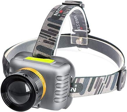 DJSkd Outdoor Waterproof Head-Mounted Strong Head Light LED Charging Night Fishing Light Fishing Light Flashlight White Light Zoom (Size : 45W Zoom)