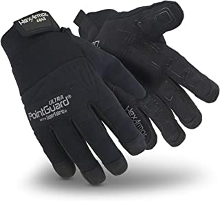 HexArmor PointGuard Ultra 4043 Black Needle Resistant Search Gloves for Police and Law Enforcement, Large