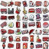Londres autobús rojo cabina de teléfono pegatinas de punto de referencia para niños, adolescentes, adultos, equipaje,...