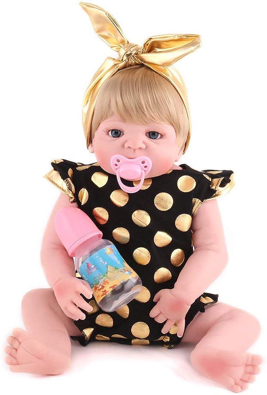 Naturgetreues Spielzeug Volle Silikon Vinyl Reborn Babypuppe Realistische handgefertigte junge Babys Puppen 22 Zoll 55 cm Lebensechte Kinder Spielzeug Kinder Geburtstagsgeschenk kann in das Wasser Pup B07P5SXGQ2 Trendy  | Attraktiv Und Langlebig