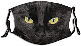 Black Cat Dog Animal Whiskers Halloween Party Costume Accessory Face Cosplay Set