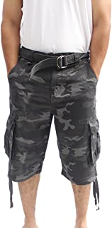 7012337a54 La Gate Mens Big and Tall Belted up to size 50 Cargo Short