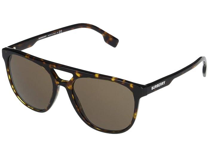 Burberry  BE4302 (Dark Havana/Brown) Fashion Sunglasses
