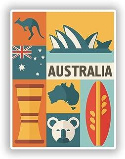 2 x 10cm/100mm Australia Vinyl Stickers Travel Luggage #10766