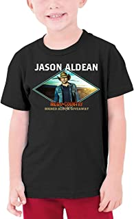Jason Aldean Youth T-Shirt Teenager for Girls Boys Short Sleeve Cotton Graphic Tee