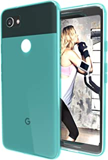 EGALO Google Pixel 2 XL Case, Slim Thin Soft Skin Silicone Flexible TPU Lightweight Gel Rubber Shock Absorption Anti-Scratches Protective Case Cover for Google Pixel 2 XL (Crystal-Mink)