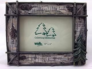 Rustic Twig & Birch w/ Pine Tree Photo Frame 6x4, Horizontal