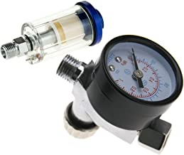 Spray Gun Air Regulator Gauge + In-line Water Trap Filter Tool Kit