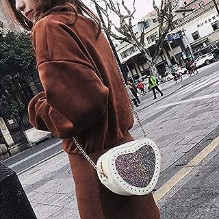 Fashion Single-Shoulder Bags Leisure Fashion PU Leather Shoulder Bag Messenger Bag (Black) (Color : White)