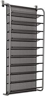 10-Layer Door Rear Shoe Rack Simple Wall-Mounted Shoe Cabinet Breathable-Type mesh Storage Shelves Living Room Furniture (...