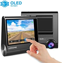 """AZDOME Dash Cam 1080P Full HD 3"""" OLED Display Touch Screen Dashboard Camera Built in GPS,G-Sensor,Loop Recording,Rotatable Camera,Night Vision,Parking Mode,Support 128GB max"""