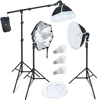 LINCO Lincostore Photography Studio Lighting Kit Arm for Video Continuous Lighting Shadow Boom Box Lights Set Headlight So...