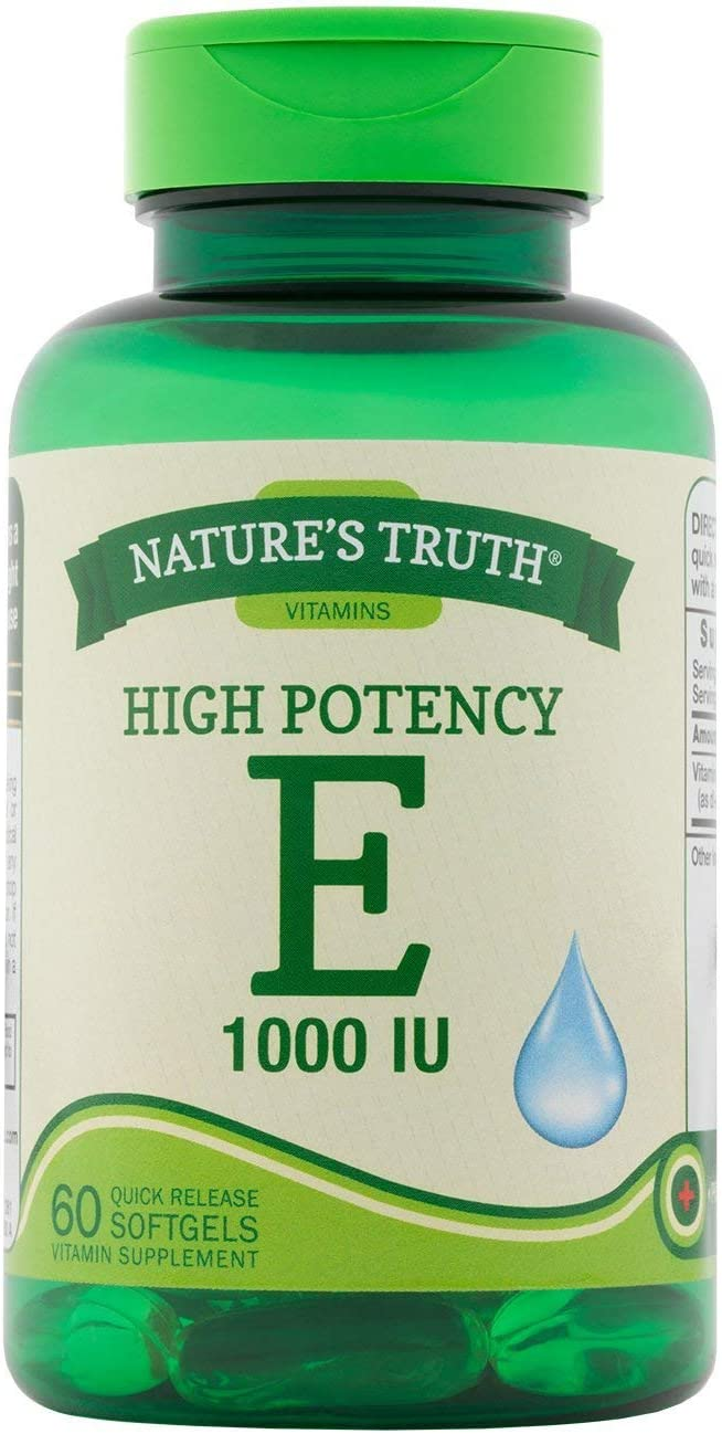 Nature's Truth High Potency E 1000 Ranking TOP5 60 IU So Max 65% OFF Vitamin Supplement -