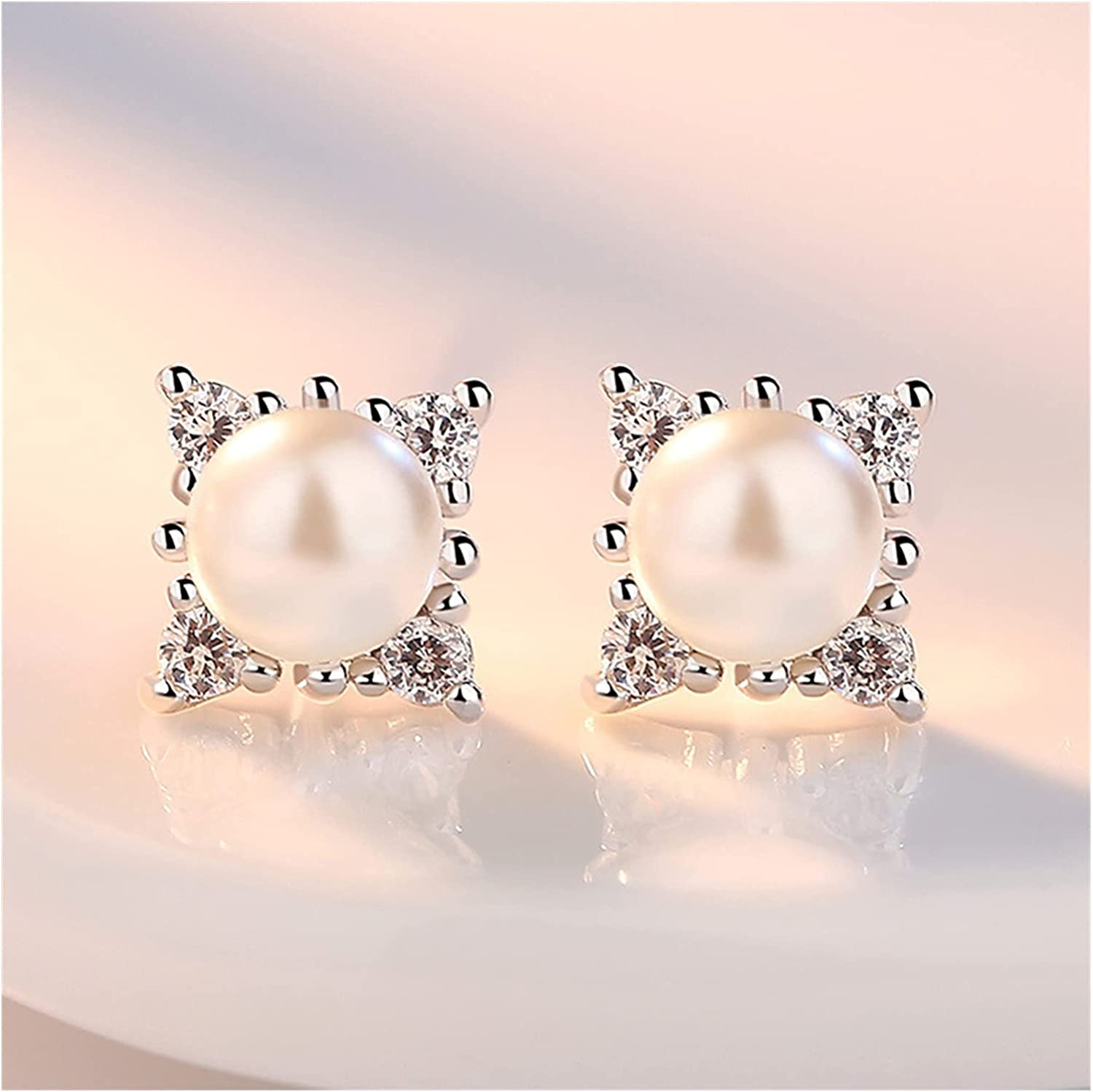 Earring New Zircon Crystal Snowflakes York Raleigh Mall Mall Pearls Earrings 2017 Fashi