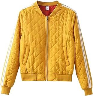 Women's Silm Fit Long Sleeves Coat Bomber Zipper Tops Raglan Outwear Jacket